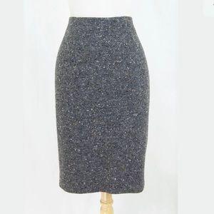 Piazza Sempione Tweed Wool Blend Pencil Skirt 10